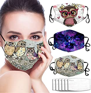 3Pcs Face_Mask for Women Man Clover Mouth Protective Reusable Washable Cloth Adjustable Cotton Cute Funny Gift for Women Men