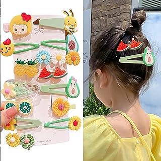 Cute Hair Clips for Girls, Cartoon Fruits Candy Rainbow Patterns Hair Pins Snap Hair Barrettes, Fashion Hair Accessories D...