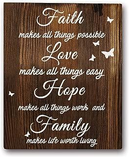 Best faith love family decor Reviews