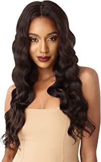 Outre &PLAY Human Hair Optimix Bundle Edition 360 Lace Wig (Natural Deep Wave, NBLK)