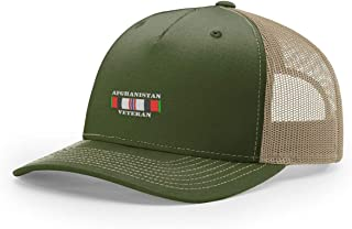 Afghanistan Veteran Ribbon Embroidered Richardson Hat