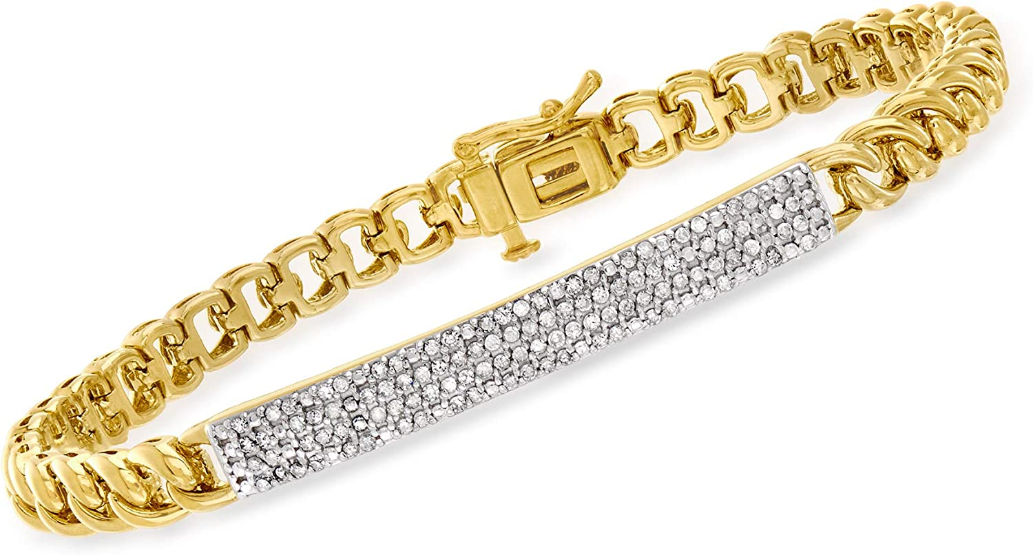 Ranking At the price of surprise TOP1 Ross-Simons 0.50 ct. t.w. Diamond 18kt in Bracelet Gold Bar-Link