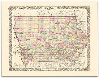 vintage iowa map