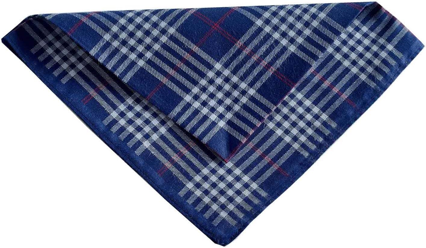 Men's Handkerchiefs 100% Cotton Checker Pattern 6 Pieces …
