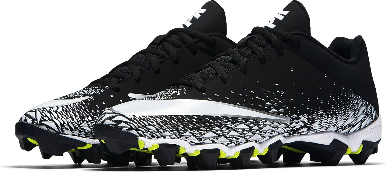Nike Mens Vapor Shark 2 Football Cleat (9.5, Black White Metallic Silver)