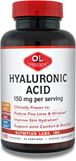 Olympian Labs Hyaluronic Acid 150mg | 100 Capsules | Support Healthy Connective Tissue and Joints - Promote Youthful Healt...