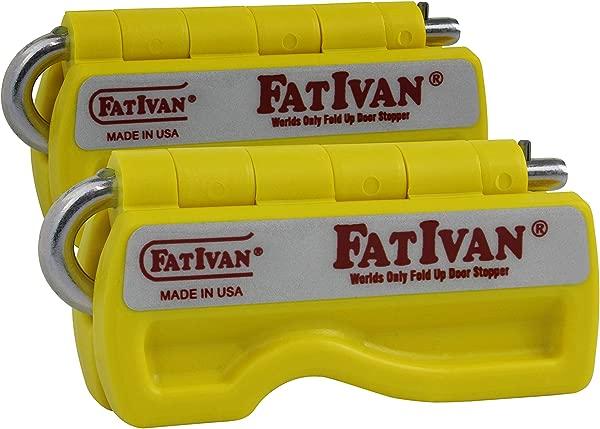 The Original Fat Ivan Fold Up Doorstop Wedge With Magnet Yellow 2 Pack