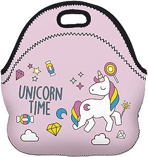 Threete Good-Looking Carry Picnic Kids Neoprene Style Unicorn Luxury Bag Boys Bag Tote Lunch Cooler Zip