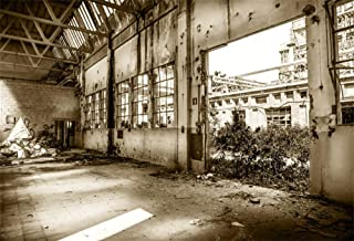 AOFOTO 9x6ft Abandoned Industry Factory Backdrop Demolished Dangerous Building Interior Vintage Deserted Warehouse Structure Ruin Buildings Photography Background Cloth Photo Booth Props Wallpaper