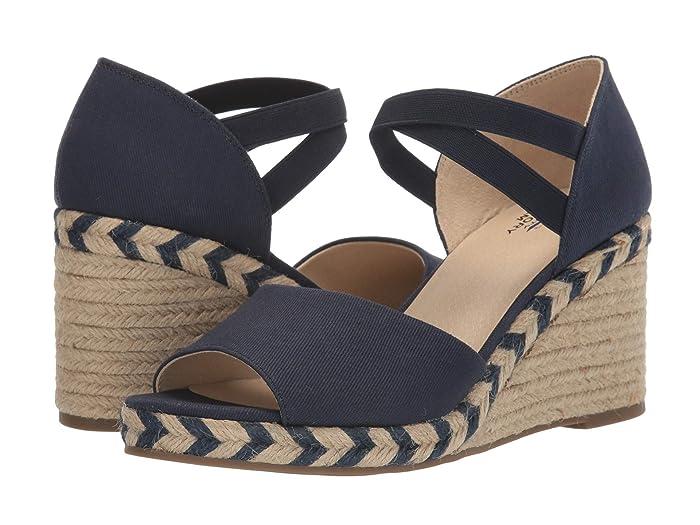 Vintage Sandals | Wedges, Espadrilles – 30s, 40s, 50s, 60s, 70s LifeStride Taffy Navy Womens Shoes $64.19 AT vintagedancer.com