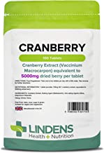 Lindens Cranberry Juice 5000mg Tablets 100 Pack Easy Way to Work Cranberry Into Your Day Rich in Polyphenols Antioxidants Popular with Women Estimated Price : £ 7,19