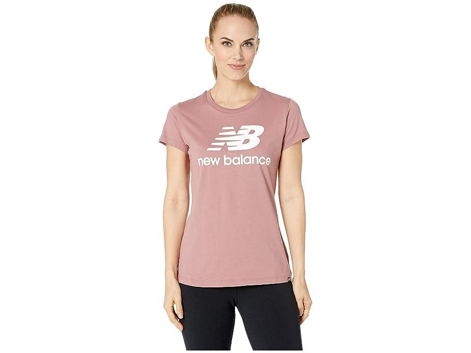 New Balance Essentials Logo Tee (Dark Oxide) Women