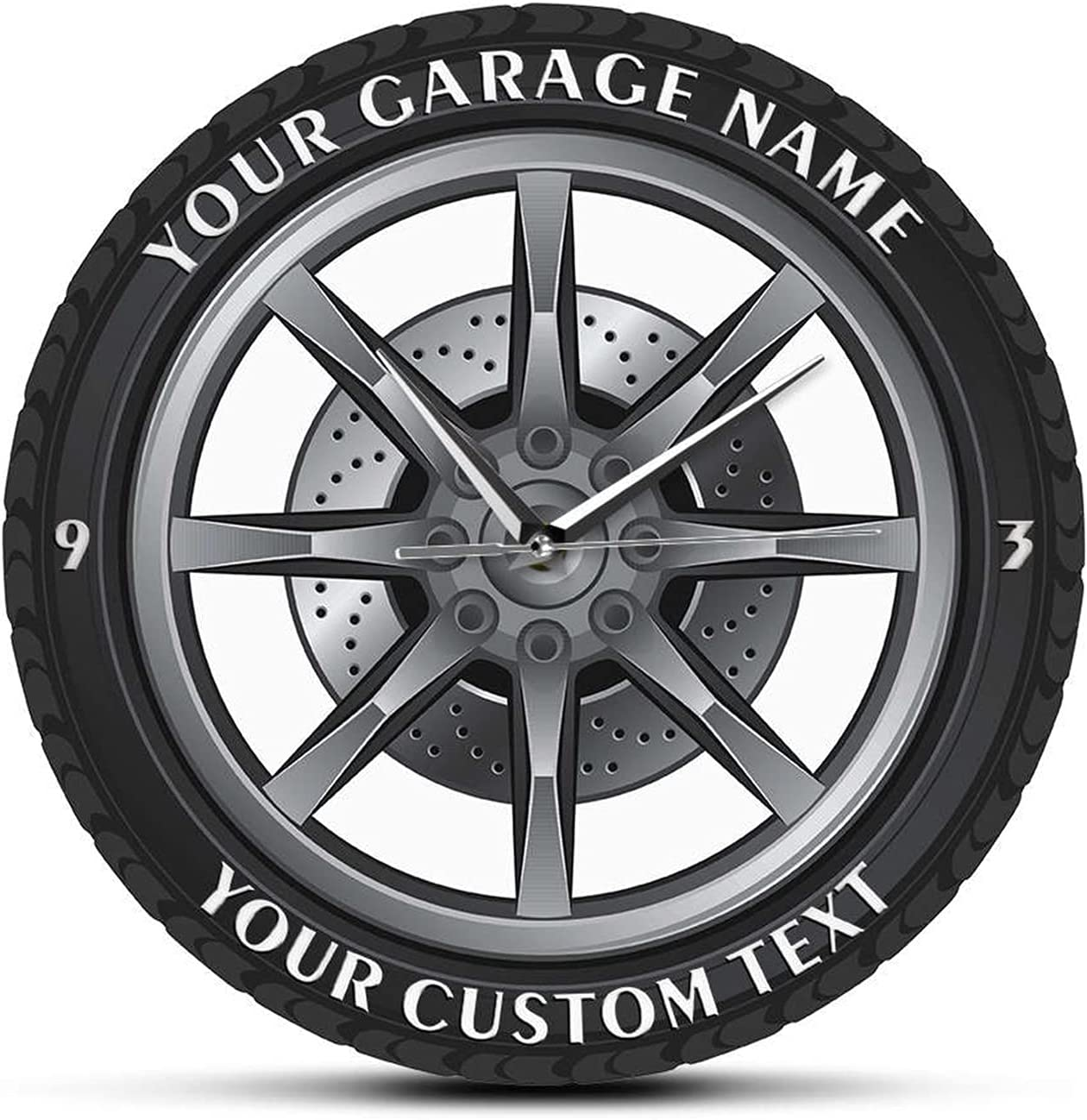 supreme JJYGTES Wall Clock Service Repair Baltimore Mall Tire Garage A Wheel