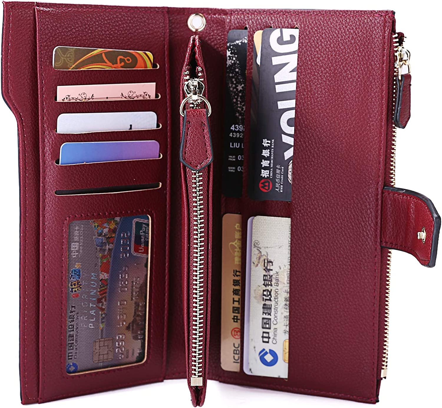 [UPGRADE] Women Soft PU Leather Long Wallet Large Capacity Cluth Ladies Purse Card Holder