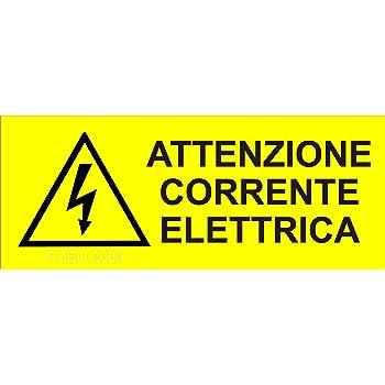 """2 TARGHETTE ADESIVE ISO 7010 /""""CORRENTE ELETTRICA/"""" SEGNALETICA PERICOLO SICUREZZA"""