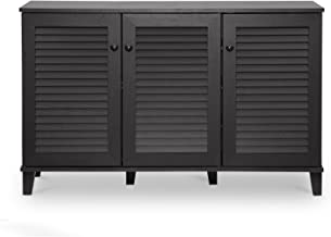 Baxton Studio Warren Shoe-Storage Cabinet, Espresso
