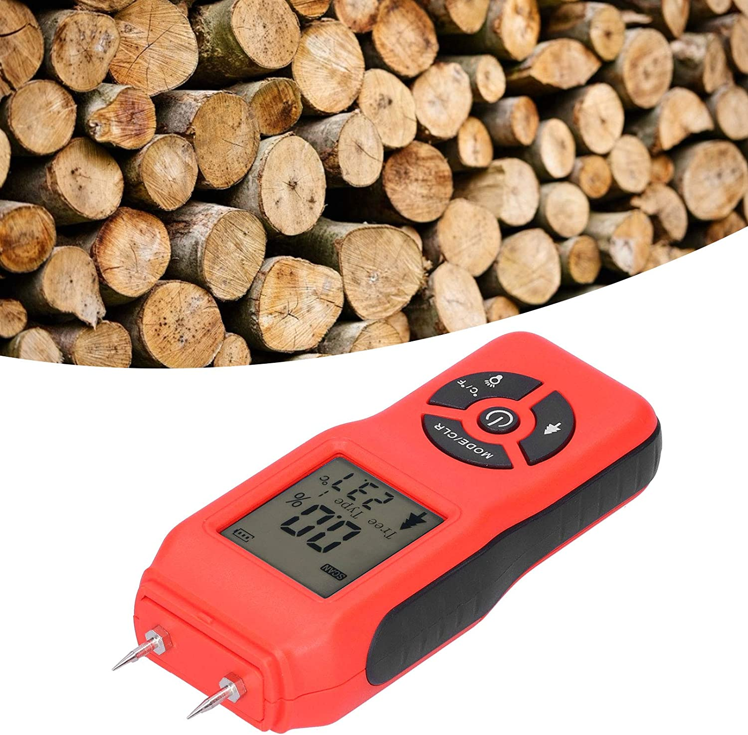 hong Wood Moisture Tester Max 62% OFF Detector Sale Special Price Display Ho LCD for
