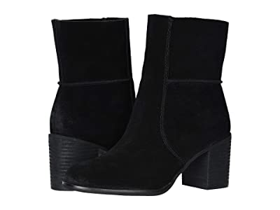 FRYE AND CO. Phoebe Slouch Mid (Black Suede) Women