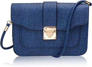 Cellphone Pouch Purse Bag with Detachable Shoulder Strap, Syndecho Muti-Functional Mini Crossbody Wallet Hand Bag Carrying Case for Women (Dark Blue)