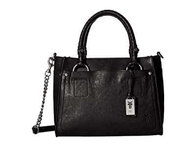 Frye Demi Satchel (Black Antique Soft Vintage) Satchel Handbags