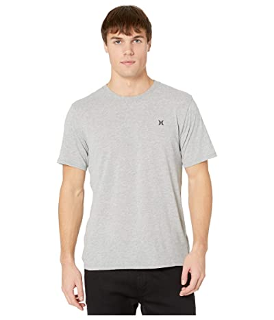 Hurley Dri-Fit Staple Icon Reflective Short Sleeve Tee (Dark Grey Heather) Men