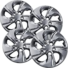 15 inch Hubcaps Best for 2013-2015 Honda Civic - (Set of 4) Wheel Covers 15in Hub Caps Chrome Rim Cover - Car Accessories for 15 inch Wheels - Snap On Hubcap, Auto Tire Replacement Exterior Cap)