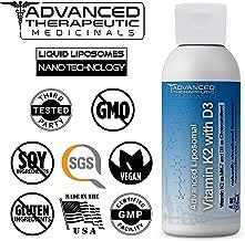 Advanced Liposomal Vitamin K2 with D3 - Pharmaceutical Grade Liquid Liposomes by Advanced Medicinal Therapeutics - 4 oz. No Soy, Non GMO, Vegan, Made in The USA