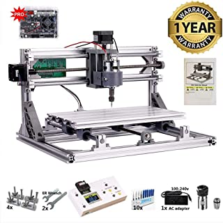 CNC 3018 Router Kit with Offline Controller GRBL Control 3 Axis Plastic Acrylic PCB PVC Wood Carving Milling Engraving Machine, XYZ Working Area 300x180x45mm