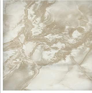 EZ FAUX DECOR Self Adhesive Vinyl Peel and Stick Riviera Beige White Faux Marble Granite Film to Update Countertop or Backsplash Thick Waterproof 36