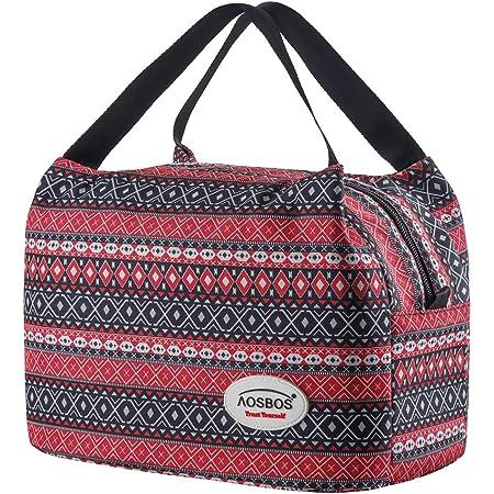 Aosbos Sac Isotherme Femmes Lunch Bag Partable Cabas Thermique pour Déjeuner 8,5L