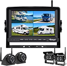 Wireless Backup Camera DVR for RV Truck Trailer Pickup with Monitor Back up Camera Reverse Rear Side View Reversing Stable... photo