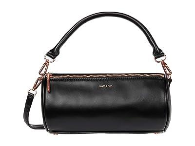 Matt & Nat Seoul Loom (Black/Rose Gold) Satchel Handbags
