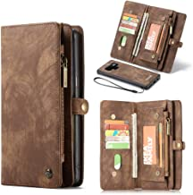 Galaxy Note 8 Case,Galaxy Note 8 Wallet Case, Esing Premium Folio Zipper Purse Leather Cover Cases for Samsung Galaxy Note 8 Detachable Magnetic Case with Flip Credit Card Slots Stand Holder (Coffee)