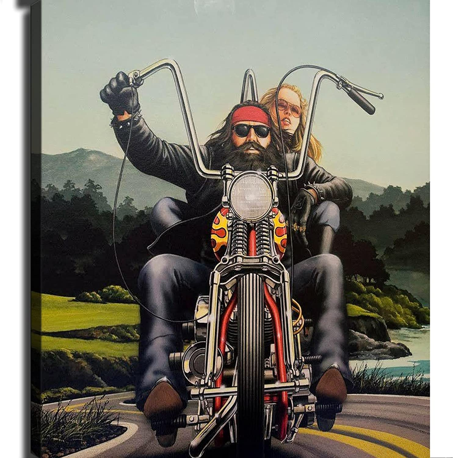 Easy rider david mann motorcycle Baltimore Mall Challenge the lowest price of Japan ☆ Poster Wall Canvas Print Mo Art