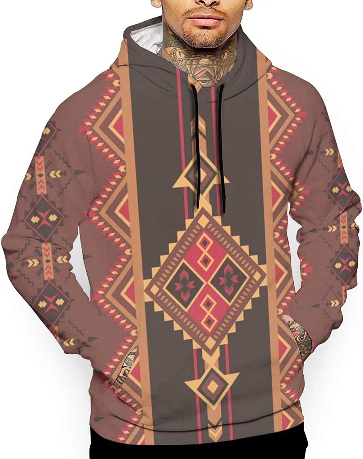Max 54% OFF xqqr Mens Hoodies Pullover 3D Pattern Ethnic Americ Aztec Super Special SALE held Native
