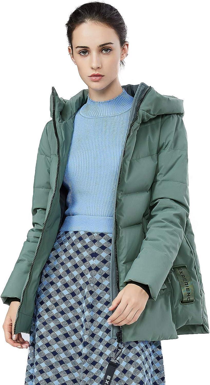 BOSIDENG Women's Down Jacket Female Short Loose Winter Down Coat Thick Outerwear Big Size Parka Hooded Waterproof Puffer