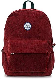 Ling-long Backpack Women Backpack Velvet Travel Bag Shoulder Bag for Women Teenage Girl School Bag Rucksack Bagpack,Clear,40X30X10Cm-Gold-40X30X10CM