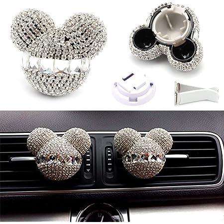Fanping 2st Mickey Mouse Auto Duft Lufterfrischer Auto Vent Duft Diffusor Color White Auto