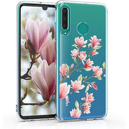 Housse Protectrice pour T/él/éphone en Silicone Papillons Multicolores Multicolore-Fuchsia-Transparent kwmobile Coque Compatible avec Huawei P30 Lite