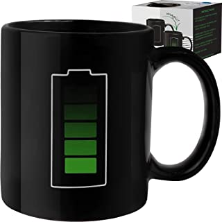 Heat Changing Sensitive Funny Mug – Cool Coffee & Tea Unique Magic Color..