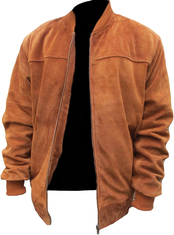 coolhides Men's Fashion Suede Leather Stylish Brown Jacket