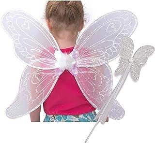 bf1d1f224 Alas de ángel y varita mágica blancas de Lucy Locket para disfraz infantil ( 3-