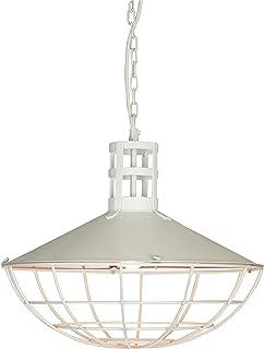 Boho Traders Boston Iron Antique Pendant Light, White