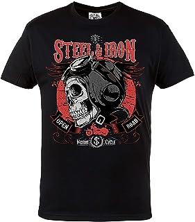 Rule Out Herren Casual T Shirt. Motorradclub. Steel & Iron. Automobile Casual Wear