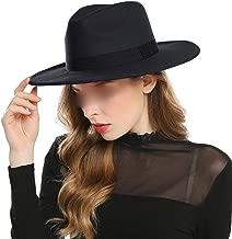 OUOK Black Red Fedora Hats for Women Imitation Wool Fedoras Panama Felt Hat Winter Men Jazz Hats Trilby Chapeau Femme Caps