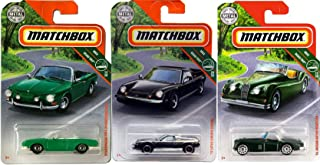 Matchbox Road MBX Trip Classic Rides Volkswagen Type 34 Karmann GHIA VW Bundled with '56 Jaguar XK140 Roadster Convertible & '72 Lotus Europa Special 3 Items