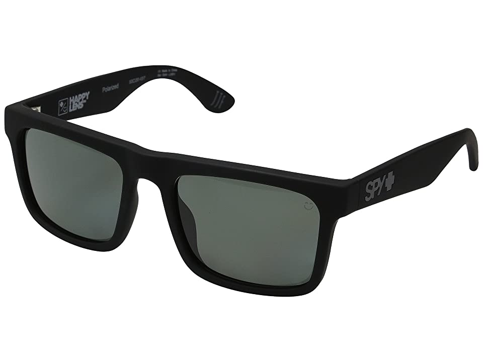 Spy Optic Atlas (Soft Matte Black/Happy Gray Green Polar) Athletic Performance Sport Sunglasses