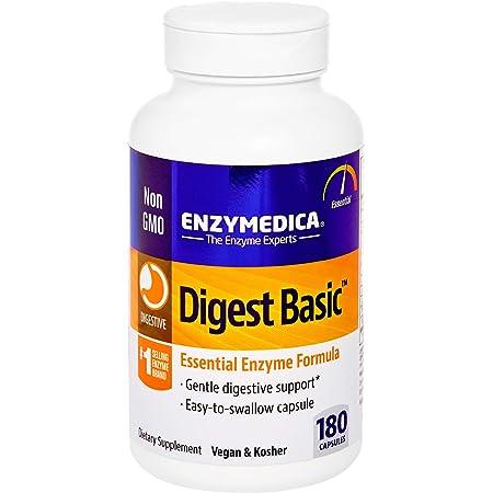 Enzymedica, Digest Basic, Digestive Enzymes, 180 Capsules (FFP)