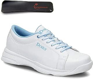 Dexter DexLite Pro BOA mit Wechselsohle und BOA Verschlu/ßsystem in den Schuhgr/ö/ßen 36-41 und Mein-Bowlingshop Schuhtasche im Set Schwarz//Lila nur f/ür Rechtsh/änder - Bowling-Schuhe Damen