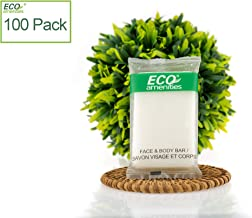 ECO Amenities Hotel Soap, Enriched with Natural Green Tea Extract Ingredient Individuallly Wrapped 1 ounce Cleasing Soap, 100 Travel Soap Bars in Bulk Per Case